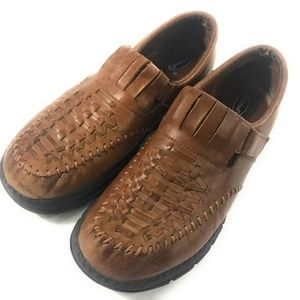 Dr. Scholl's Brown Mary Jane Velcro Shoes, 8